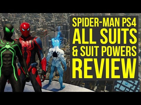 Spider Man PS4 All Suits and Abilities In The Game REVIEW (Spiderman PS4 Suits) (видео)
