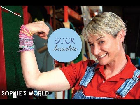 Sophie's World:  Sock Bracelet Craft