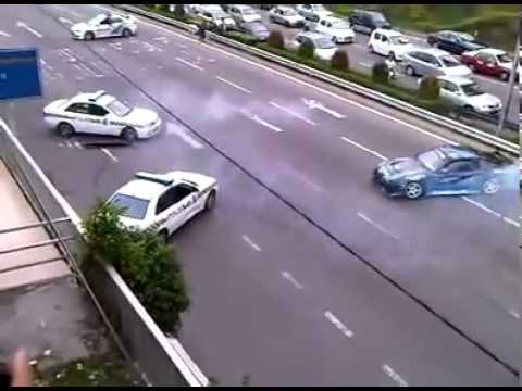 Drift – Police chasing Street Racer on highway. Very Funny. jdm cars imports
