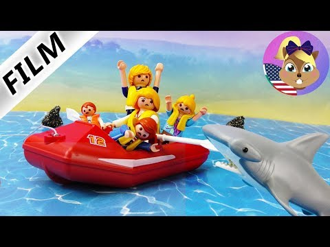 A Playmobil Story| Smith Family as SHARK FOOD at sea | Kids Film Vacation Chaos 3