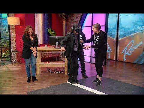 Watch Rachael Ray's Husband Fall Off a Building In Virtual Reality at VR World In NYC