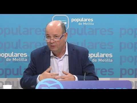 """Conesa presenta las líneas básicas de la Ponencia """"Melilla y su Economía"""""""