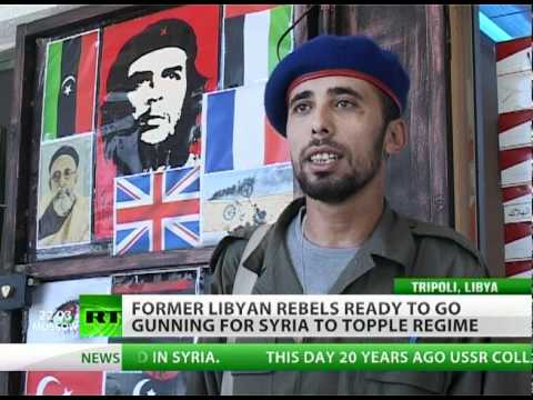 Libya rebels go gunning for Syria to topple Assad