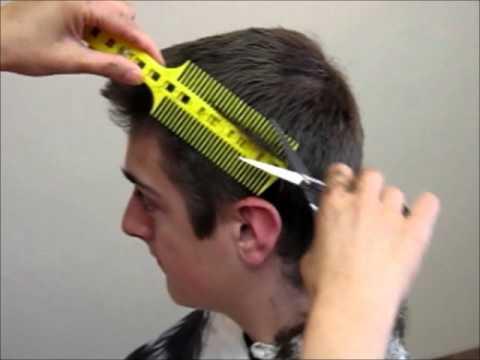 How To Cut Mens Boys Hair Short Tutorial Combpal Scissor Clipper