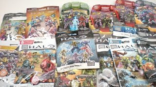 Halo Mega Bloks Series 1-14.  In other words, Series 1-Charlie. Every single Halo Mega Bloks Series pack opened all in one video! Take a look at how each series has changed over time.