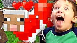 8 Year Old Jacob Playing Minecraft - HOW TO HERD AND BREED