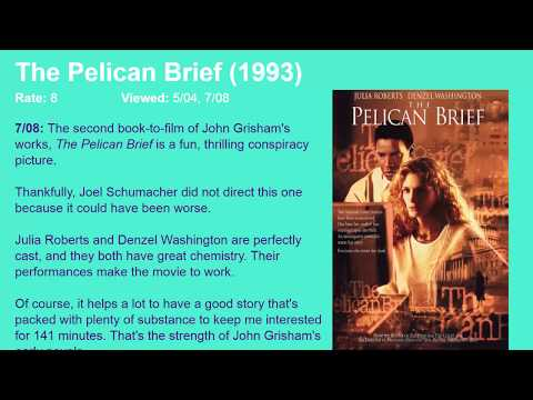 Movie Review: The Pelican Brief (1993) [HD]