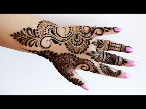 Most Beautiful And Easy Hand Mehndi Design For Beginners