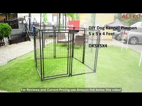ALEKO DK5X5X4SQ Pet System DIY Box Kennel Dog Kennel Playpen Chicken Coop Hen House 5 x 5 x 4 F