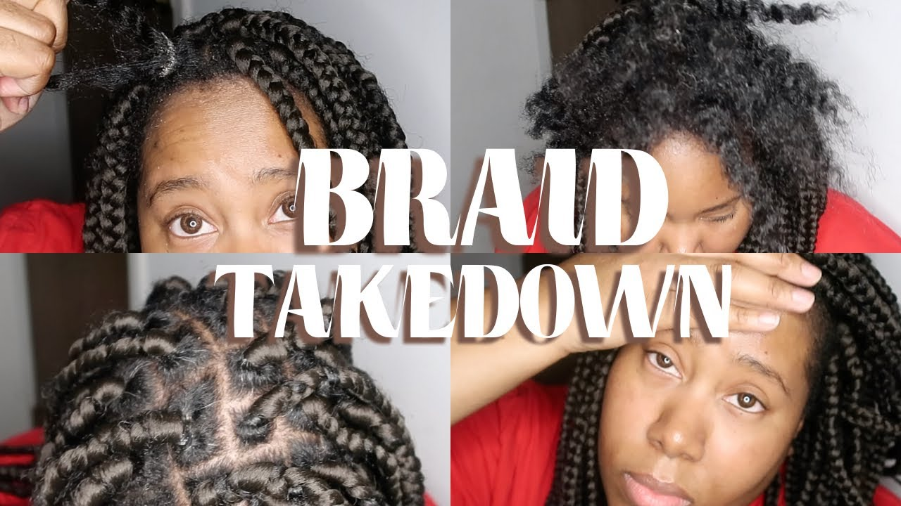 BOX BRAID TAKEDOWN | DANDRUFF | ITCHY SCALP | #NATURALHAIR