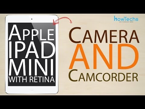 Apple iPad mini Retina – How to use the camera and camcorder