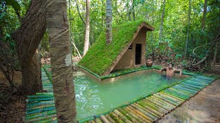 Download Video Build The Most Beautiful Bamboo Swimming Pool Around Luxury Villa house by ancient skills MP3 3GP MP4