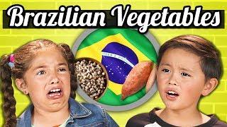 Video KIDS EAT BRAZILIAN VEGETABLES! | Kids Vs. Food MP3, 3GP, MP4, WEBM, AVI, FLV Mei 2018