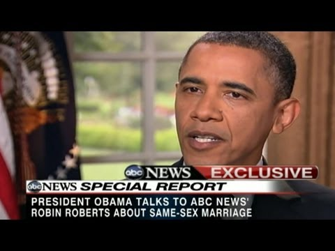 barack obama gay marriage - President Obama declares that gay marriage 'should be legal.'