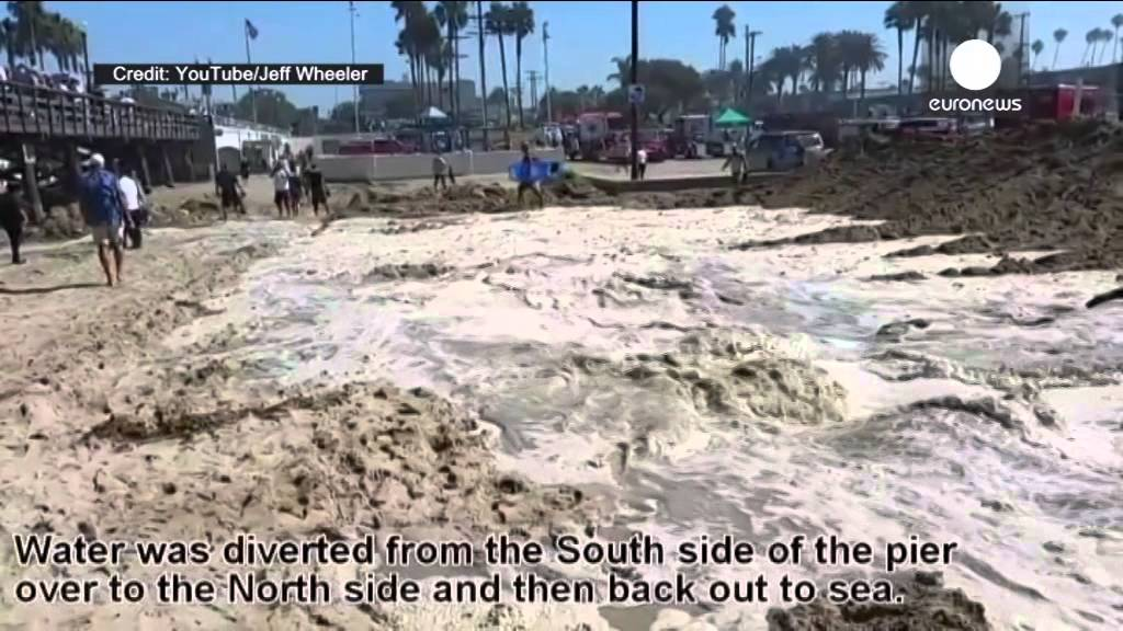 Spotted: Highest waves in 15 years break on beach in California (Hurricane Mary)