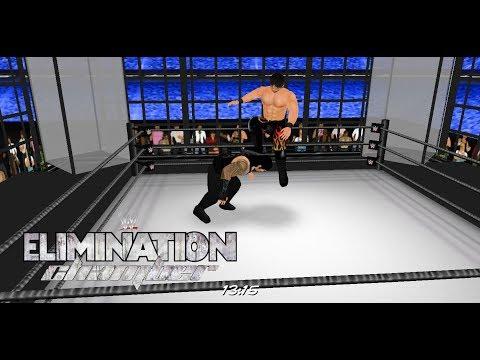WR3D 2K18 Elimination Chamber 2018 -Reigns vs John Cena vs Braun vs Rollins vs Balor vs Miz vs Elias