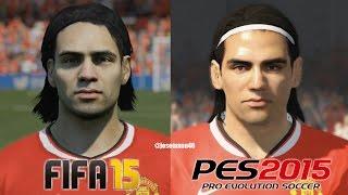 FIFA 15 Vs PES 2015 MANCHESTER UNITED Face Comparison (Rooney, Van Persie, Falcao)