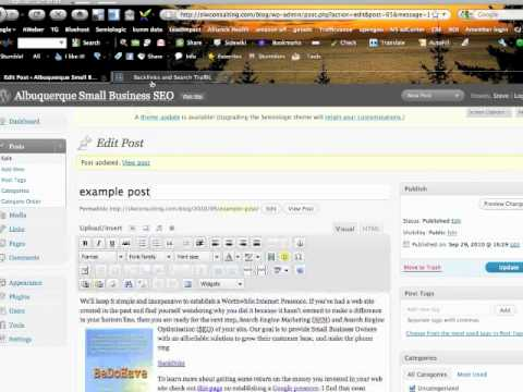 Creating backlinks in a Wordpress page or post