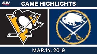 NHL Highlights   Penguins vs. Sabres  – Mar 14, 2019