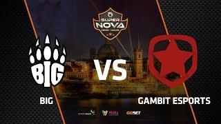 BIG vs Gambit, map 1 overpass, SuperNova CS:GO Malta