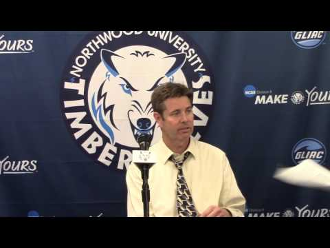 Northwood University Men's Basketball (1/28/16) Michigan Tech 61, NU 60 - Press Conference