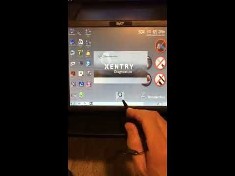 Mercedes-Benz SDS Star Diagnostic scanner tutorial quick intro on how to use the scanner
