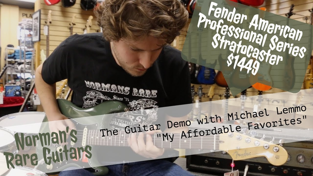 "Norman's Rare Guitars – ""My Affordable Favorites"" – Fender American Professional Series Strat $1449"