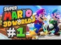 Super Mario 3D World Gameplay #1 - WiiU - Let's Play Super Mario 3D World German