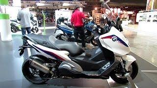 9. 2014 BMW C600 Sport Scooter Walkaround - 2013 EICMA Milano Motorcycle Exhibition