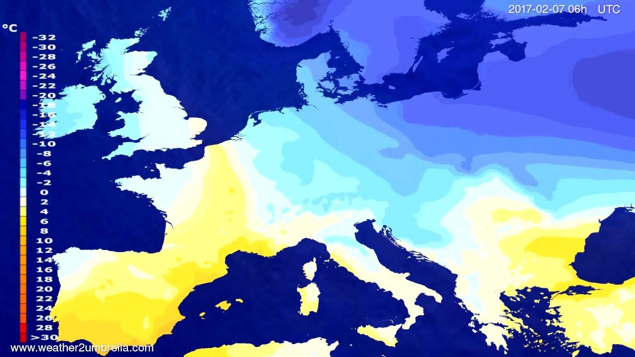 Temperature forecast Europe 2017-02-04