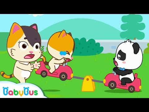 Baby Kitten, Play On The Seesaw Safely  Kids Safety Tips  Kids Song  Nursery Rhymes  BabyBus