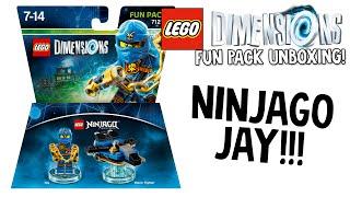 LEGO DIMENSIONS NINJAGO JAY FUN PACK UNBOXING!!! (LEGO Set No. 71215)