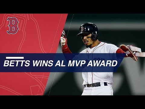 Video: Mookie Betts is named the 2018 American League MVP