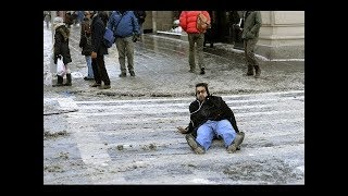 Funny People Falling On Ice Compilation  2015