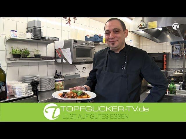 Caponata - sizilianisches Gemüse mit Aubergine, Paprika und Zucchini
