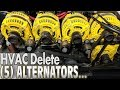 Five ALTERNATORS But No Air Conditioning!?!?  EXTREME Car Audio Heater Core Bypass n A/C DELETE