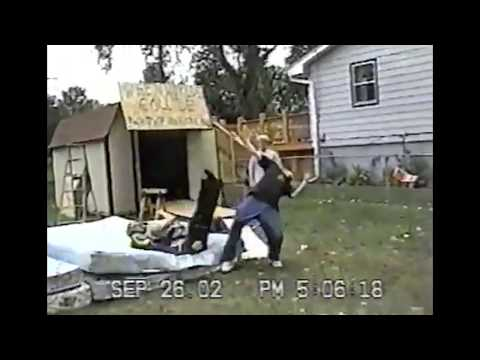INSANE BACKYARD WRESTLING MONTAGE! - JUMPS OFF SHED - CHAIR SHOT - TABLES & MORE!