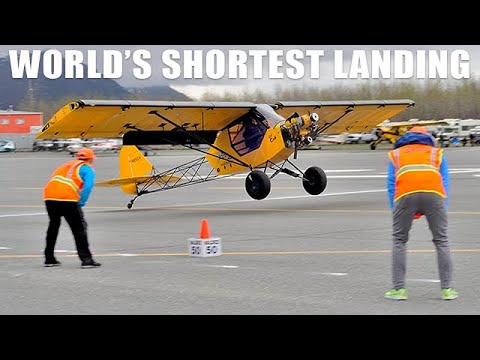 STOL Competition - World Record Shortest Landing 9 Feet 5 Inches