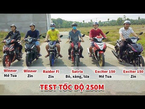 Exciter150, Winner, Satria, Raider Fi xe nào bá nhất ở cự li 250m ? - Thời lượng: 11:35.