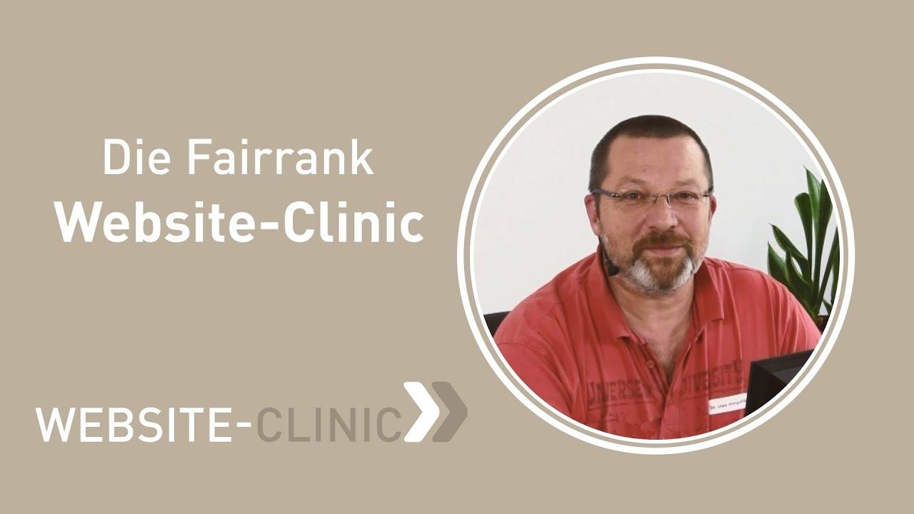 Die Fairrank Website-Clinic | Fairrank TV - Website-Clinic