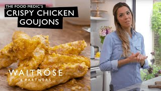 Dr Hazel Wallace shares her recipe for chicken goujons with a naturally gluten free crunchy almond coating, with lettuce boats and chunky salsa. See the full recipe  http://www.waitrose.com/content/waitrose/en/home/recipes/recipe_directory/d/dr-hazel-wallacethefoodmedicscrispychickengoujons.htmlTwitter  http://www.twitter.com/waitroseFacebook  http://www.facebook.com/waitroseInstagram  http://www.instagram.com/waitrose Pinterest  http://www.pinterest.com/waitroseMore great recipes, ideas and groceries  http://www.waitrose.com