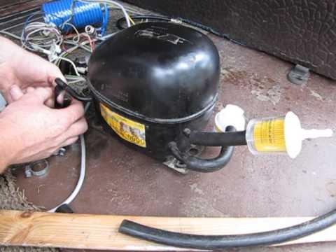 Компрессор от холодильника для накачки колес