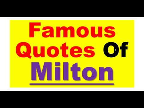 ***Famous Quotes Of Milton*** discussed in Hindi