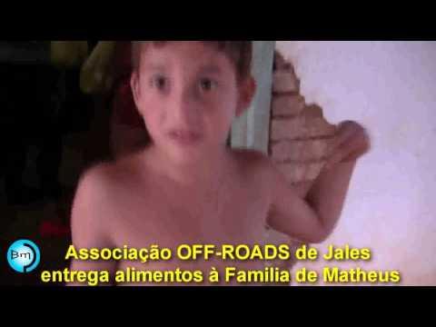 Jales - Associação OFF-ROAD de Jales entrega alimentos à família do Garotinho Matheus