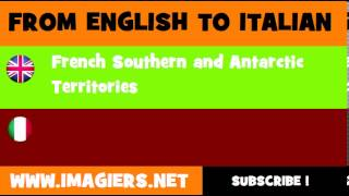 How to say French Southern and Antarctic Territories in Italian