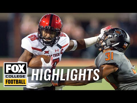 Oklahoma ST vs. Texas Tech | FOX COLLEGE FOOTBALL HIGHLIGHTS