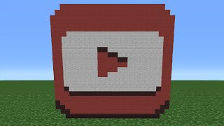 Minecraft Tutorial: How To Make The Youtube Studios Logo (Youtube Play Button)