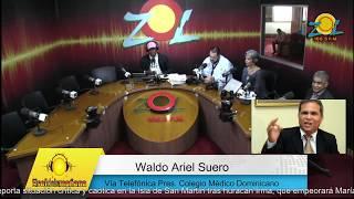 Waldo Ariel Suero mantiene el llamado a huelga de médicos a pesar de alerta por huracán María
