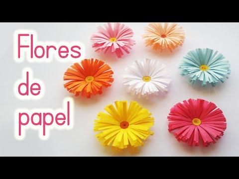 Flores de Papel - Manualidades con papel: Flores de Papel (Margaritas) Fácil - Innova Manualidades Un vídeo más de manualidades fáciles: Cómo hacer flores de papel (margaritas...