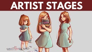 Here are the different stages of being an artist. Well for me, anyway! I hope you enjoyed the digital speedpaint too. Let me know if your experience is different.